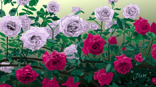 薔薇画原寸大